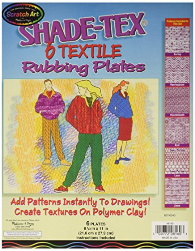 Melissa & Doug Shade-Tex Rubbing Plates - Textile Set