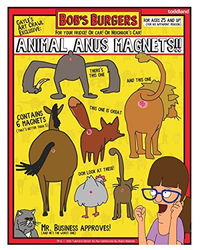 sdcc-2016-exclusive-bobs-burgers-animal-anus-magnet-set-of-6-by-20th-century-fox
