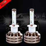 H1 LED Headlight Bulbs White 6000K for Trucks Cars Lamps DRL Driving Replacement Bulb Conversion Kit Upgrade High Low Beam Plug Fan Super Bright Philips Chips 12V 24V 80W 10000LM 1 Year Warranty?1797? (Color: White, Tamaño: H1)