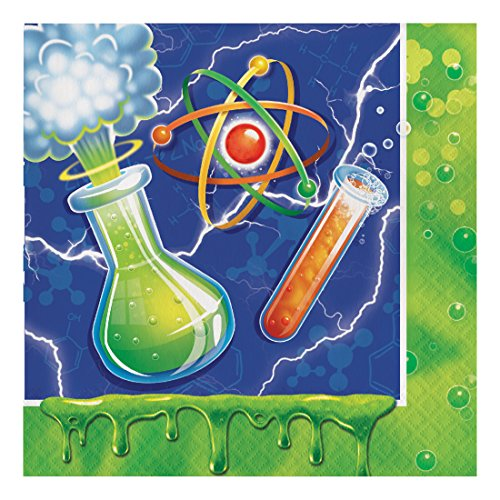 Creative Converting 317530 16 Count Paper Lunch Napkins, Mad Scientist (Scientist Party Supplies compare prices)