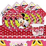 Disney Minnie Mouse Polka Dots Children's Birthday Party Tableware Pack for 16
