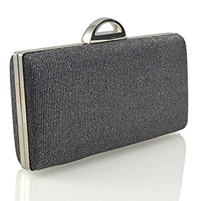 WOMENS CLUTCH BAG GLITTER SPARKLY LADIES PROM PARTY PURSE BRIDAL EVENING HANDBAG - more-bags