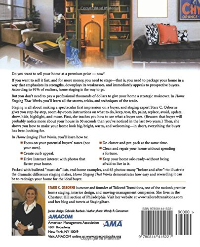 How To Stage A House Prior To Selling: Libro Home Staging That Works: Sell Your Home In Less Time