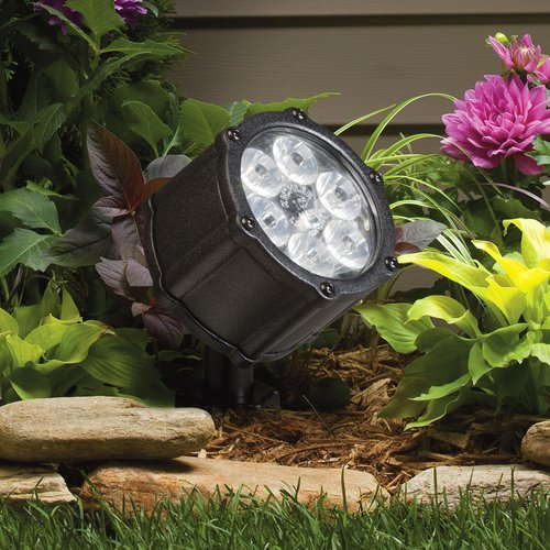 Kichler Lighting 15741Bkt Led Accent Light 6-Light Low Voltage 10 Degree Spot Light, Textured Black With Clear Tempered Glass Lens