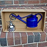 Bosmere V171DKN Haws Spray-N-Sprinkle Gift Box Set with Dark Blue Watering Can and Nickel Mister