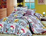 Tima Polyester 228 cm X 254 cm Double Bedsheet with 2 Pillow Covers