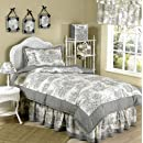 Black French Toile Childrens Bedding 4pc Twin Set By Sweet Jojo Designs
