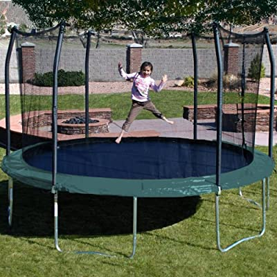 Skywalker Trampolines 15-Feet Round Trampoline and Enclosure with Spring Pad by Skywalker Holdings, LLC