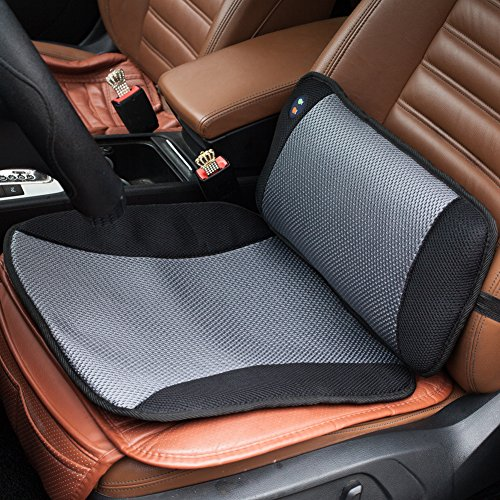 VIKTOR JURGEN Adjustable Vibration Massage Lumbar Pillow Back Support and Car Seat Cushion Massager with Breathable (Lumbar Support Car compare prices)