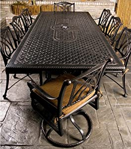 Amazon.com: Gensun Grand Terrace Patio Dining Set w/ 112 ...