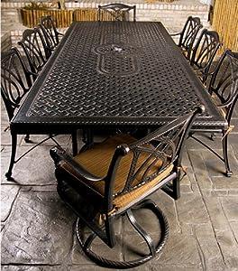 Amazon.com: Gensun Grand Terrace Patio Dining Set w/ 112 ...