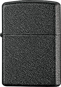 Zippo Black Crackle Lighter - Black Crackle