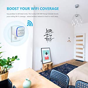 Upgraded 2019 Aveloki WiFi Range Extender 300Mbps Travel WiFi Repeater/Internet Signal Booster Amplifier with Ethernet Port for Travel WiFi Router/Hom