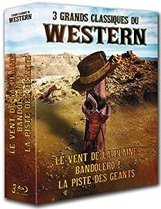 3 grands classiques du Western : Le vent de la plaine + Bandolero ! + La piste des géants [Blu-ray]