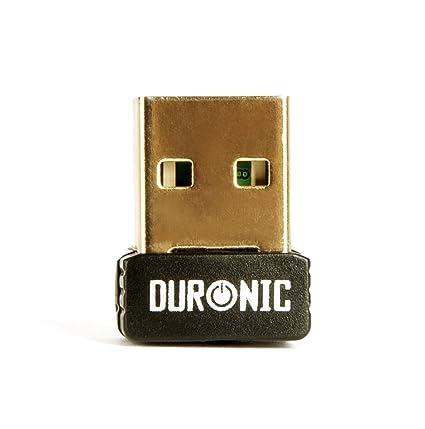 Duronic IR786 [[BLACK]] Wireless Internet USB Wifi Nono Dongle - 150Mbps - Windows 7, XP, Vista, 2000