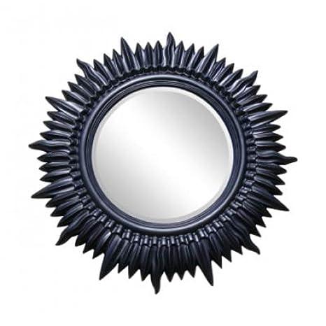 "Large Black Sun Wall Mirror (3ft 10"" x 3ft 10"")"