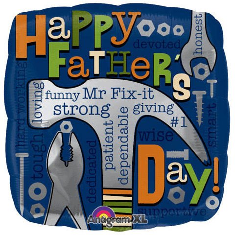 Happy Father's Day Mr Fix It 18-inch Foil Balloon
