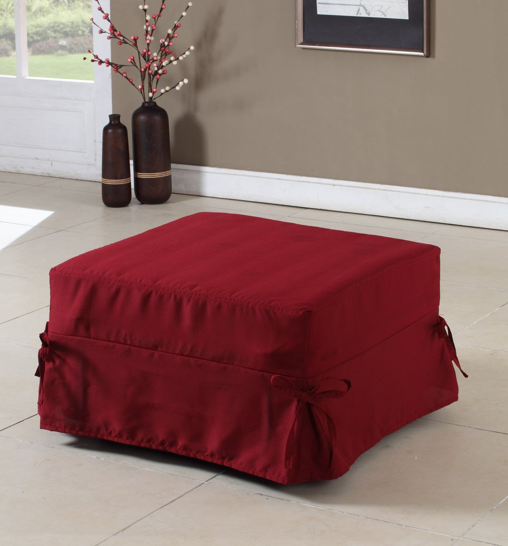 Folding Ottoman Guest Bed Sleeper With Mattress & Fabric Cover at Amazon.com