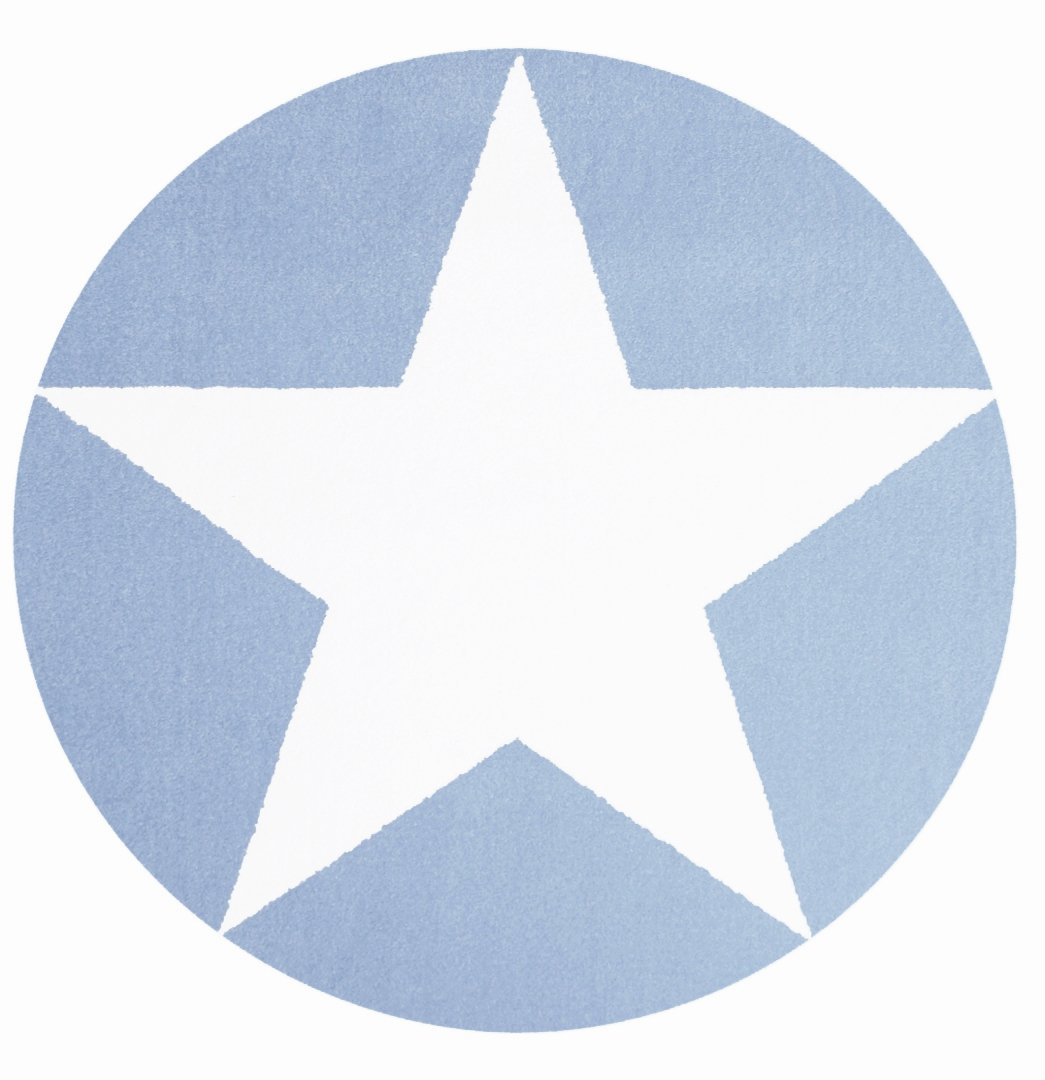 Kinderteppich Happy Rugs STAR blau/weiß 160cm rund bestellen