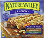 Nature Valley Crunchy Granola Bars, Variety Pack, Oats 'n Honey, and Peanut Butter, Dark Chocolate 12-Count, 8.98oz Boxes (Pack of 6)