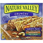 Nature Valley Crunchy Granola Bars, Variety Pack, Oats 'n Honey, and Peanut Butter, Dark Chocolate 12-Count Boxes (Pack of 6)