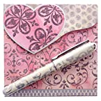 Blush Matchbook Notepad with Pen