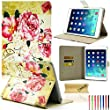 iPad Mini Case, Dteck(TM) Classic Retro Vintage Design PU Leather Magnetic Closure with [Auto Wake/Sleep Function] Flip Wallet Case for Apple iPad Mini 3/2/1 (06 Peony Blossom)