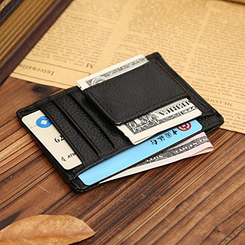 NEW Men Leather Wallets Money Clip Credit Card Id Holder