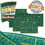 Paragon Crafts Premium Double Sided Self Healing Cutting Mat is Vital for Arts, Crafts, Sewing and Hobbies. Perfect Companion of Rotary Cutters, Craft Knives and Variety of Blades. A4 ~ 11 X 8 inches
