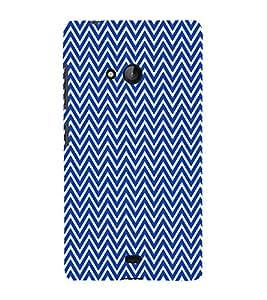 Blue Chevron Cross 3D Hard Polycarbonate Designer Back Case Cover for Lumia Lumia 540 :: Microsoft Lumia 540