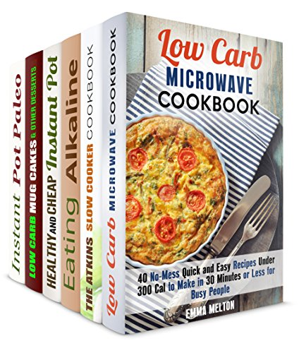Get Low-Carb Box Set (6 in 1): No-Mess Quick and Easy Recipes for Health-Conscious and Busy People (Instant Pot & Low Carb Meals) by Emma Melton, Vicki Day, Sophie Barnes, Sherry Morgan, Monique Lopez