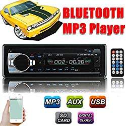 See AUDEW Car Bluetooth MP3 Player Stereo Radio in-Dash Single-Din USB/SD 32GB iPod MP3 Player AUX FM 87.5-108.0 MHZ 12V Details