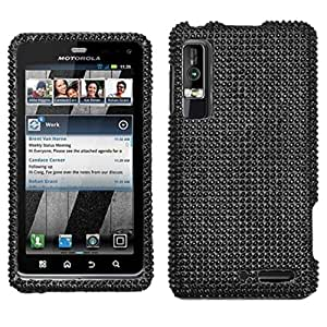 Asmyna MOTXT862HPCDMS003NP Luxurious Dazzling Diamante Case for Motorola Droid 3 XT862 - 1 Pack - Retail Packaging - Black