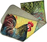 Manual Quilted Table Runner, Boho Rooster by Susan Winget