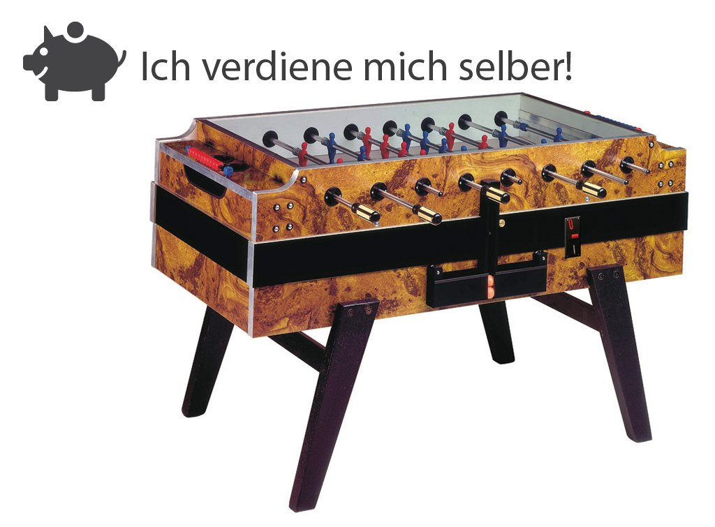 Münz Kickertisch Champion F2 mit elektronischen Münzeinwurf jetzt kaufen