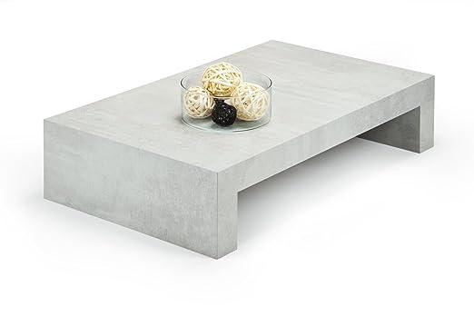 Mobilifiver First H21- mesa auxiliar de salón, madera, cemento , 90,0 x 54,0 x 21,0 cm