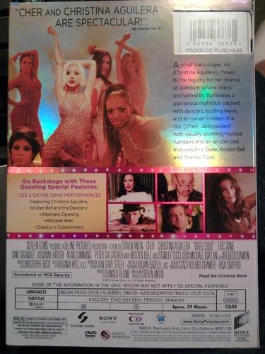 Amazoncom Burlesque Cher Christina Aguilera Steve