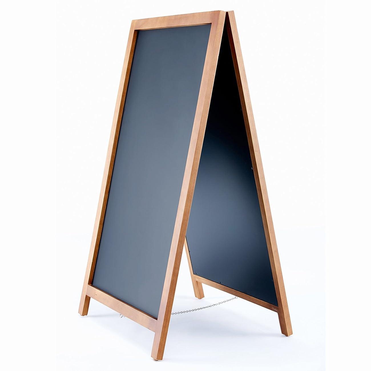 Vintage Wooden Magnetic A-Frame Chalkboard 42