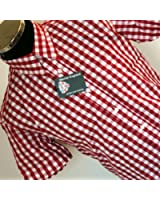 Warrior Vintage Button Down RED Skaville Gingham Check - All Sizes Available