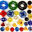 25pcs Beyblade Randomized Parts Kit Pack, w/ Performance Tips, Energy Rings, Spin Tracks & Face Bolts