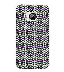 Lovely Cross Chevron 3D Hard Polycarbonate Designer Back Case Cover for HTC One M9+ :: HTC One M9 Plus