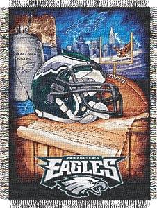 Philadelphia Eagles Woven Tapestry Throw Blanket by Northwest Enterprises