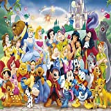 Fairy Tale Characters 10' x 10' CP Backdrop Computer Printed Scenic Background