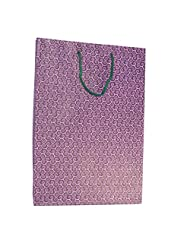 R S Jewels Paper Handmade Pink Swirls Pattern Designs Bag Pack Of 10 Pcs