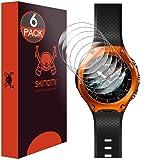 Casio Smart Outdoor Watch Screen Protector (WSD-F10), Skinomi TechSkin (6-Pack) Full Coverage Screen Protector for Casio Smart Outdoor Watch Clear HD Anti-Bubble Film