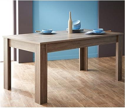 Table à manger rectangulaire bois Design Chêne,L170 x P90 x H77.2 cm -PEGANE-