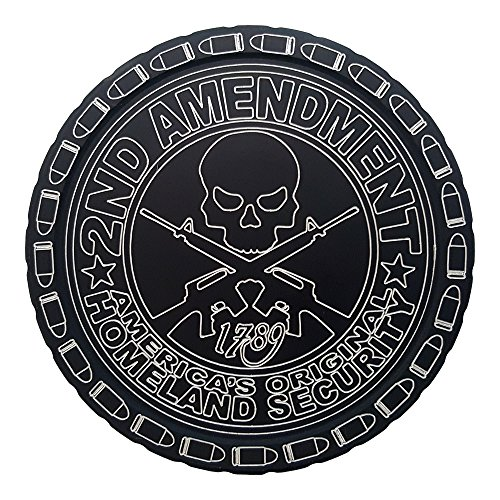DipLidz Engraved snuff lid America's Original Homeland Security (Black, 5450-Grizzly-Hawken-Kodiak) (Engraved Snuff Can Lids compare prices)
