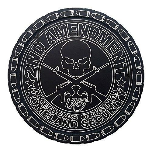 DipLidz Engraved snuff lid America`s Original Homeland Security (Black, 5250-Copenhagen Plastic-Skoal-Redman-Kayak)
