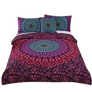 Sleepwish 4 Pcs Mandala Bedding Posture Million Romantic Soft Bedclothes Plain Twill Boho Bohemian Duvet Cover Set Queen Size