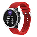 Outsta for Garmin Vivoactive 3 Watch Band, Silicone Replacement Watch Band Strap Bracelet Accessory Wristbands Fashion Smart Watch Band Women Men (Red) (Color: Red, Tamaño: 5.12